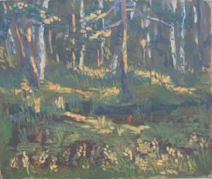 Закат в лесу,2001