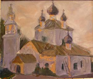 Псков. Закат.2001
