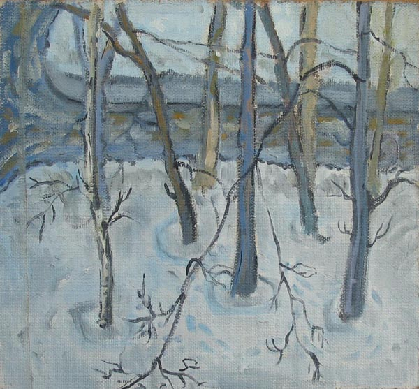 Зима.Деревья. 2004
