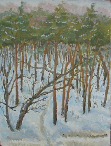 Деревья в снегу. 2005